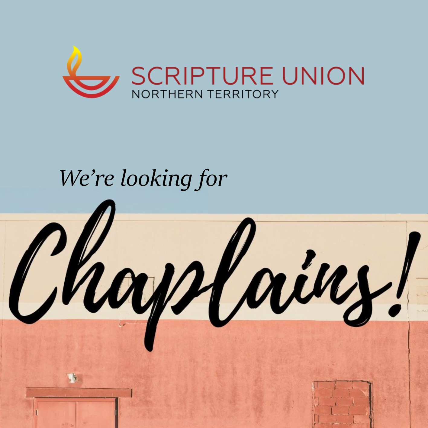 We're looking for chaplains!