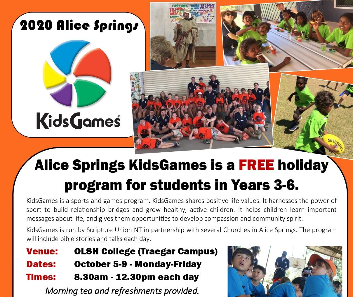 2020 Alice Springs Kids Games