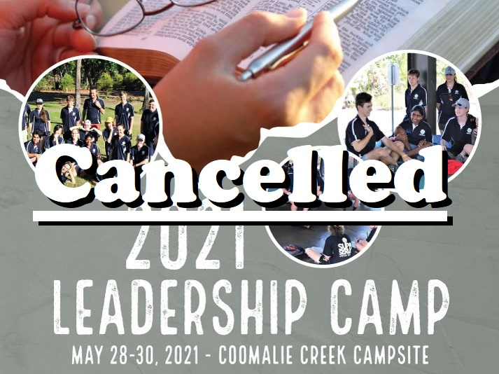 Leadership Camp Cancelled